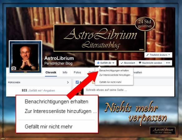 Mit einem Klick zur AstroLibrium Facebook-Seite