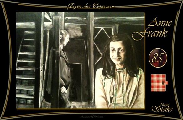 Anne Frank - Unsterblich in der Erinnerung - Gemälde von Peggy Steike