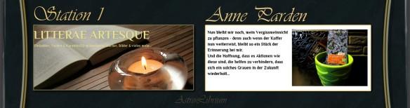 Anne Parden - LITTERAE ARTESQUE - Mit einem Klick zu ihrem tollen Bericht