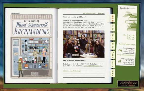 Meine wundervolle Buchhandlung von Petra Hartlieb, AstroLibrium, Hartliebs Bücher, Wien