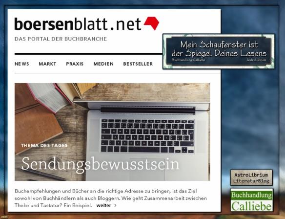 Blogger und Buchhandel - Calliebe und AstroLibrium im Börsenblatt