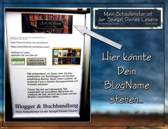 Mein Schaufenster ist der Spiegel Deines Lesens - Blogger & Buchhändler