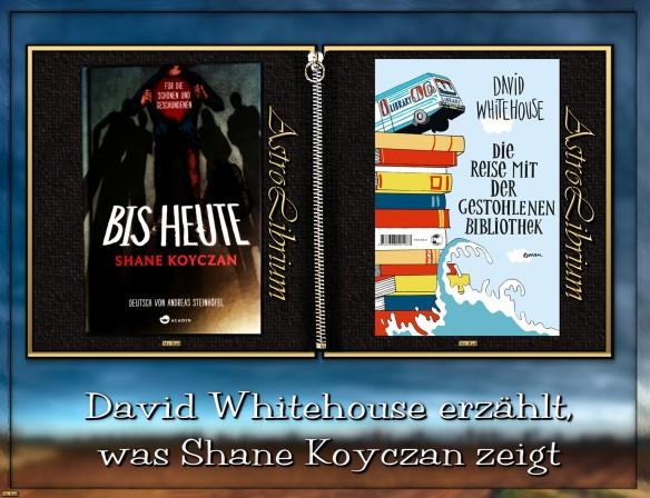 Die Reise mit der gestohlenen Bibliothek von David Whitehouse und Bis heute von Shane Koyczan