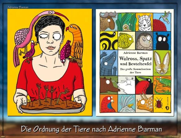 Walross, Spatz und Beutelteufel von Adrienne Barman
