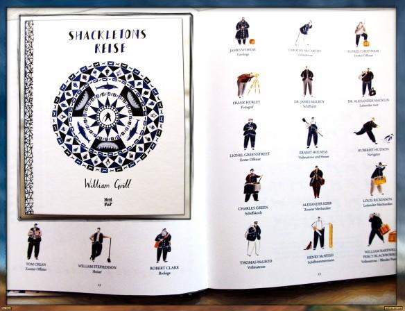 Shackletons Reise von William Grill - Die Mannschaft