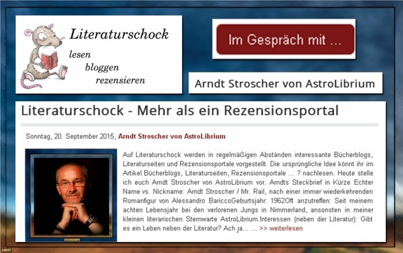 Literaturschock - Das Interview mit AstroLibrium