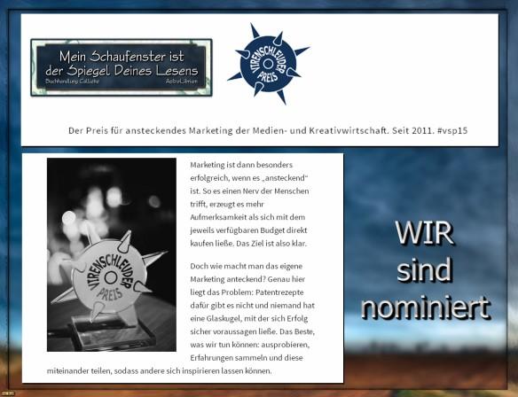 AstroLibrium und Buchhandlung Calliebe - Virenschleuder-Preis 2015 - Nominiert