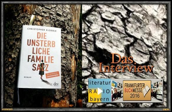 Die unsterbliche Familie Salz von Christopher Kloeble - Das Interview... bald