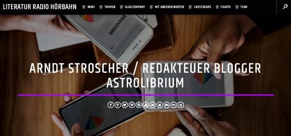 Literatur Radio Hörbahn - AstroLibrium