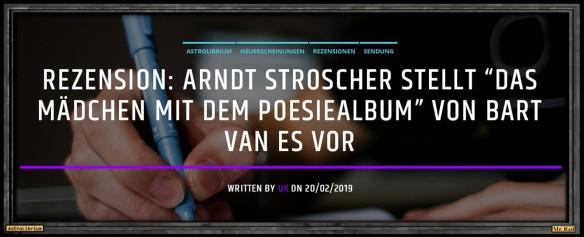 Das Mädchen mit dem Poesiealbum von Bart van Es - Astrolibrium - Hörbahn