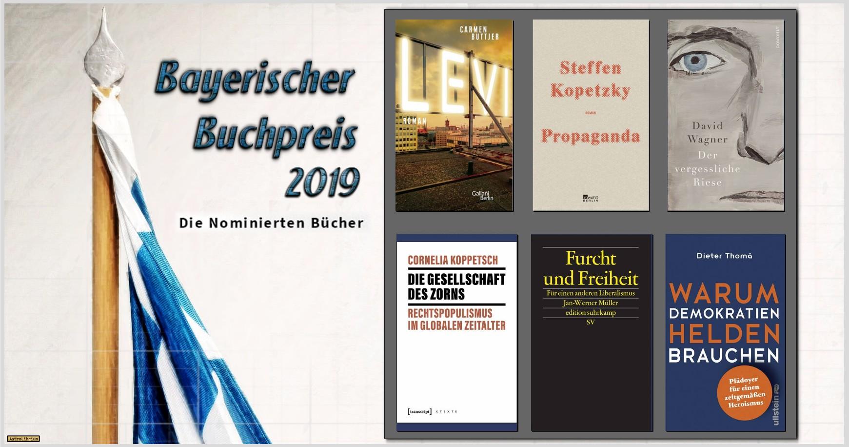 Bayerischer Buchpreis 2019 - Die nominierten Bücher - AstroLibrium
